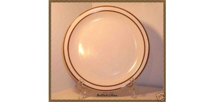 Buffalo China Double Brown Ring and Speckles Dinner Plate(s)