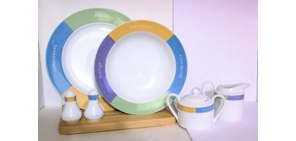 Mary Kay Words to Live By Dinnerware Collection 6 Peice Serving Set