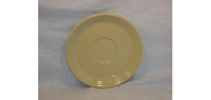 "Fiesta ware Yellow 6"" Saucer by Homer Laughlin"