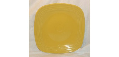 "Fiesta Sunflower 10 3/4"" Square Dinner Plate Homer Laughlin 919320"