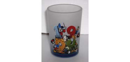 Disney 1999 Shot glass Mickey, Minnie, Donald, Goofy