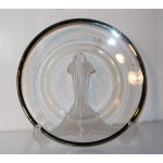 Clear Glass Dinner Plate with Platinum or silver trim