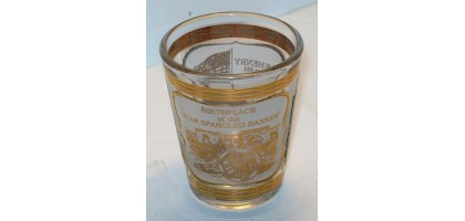 Shot Glass Fort McHenry Gold Leaf
