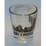 Shot Glass Detroit Gold Leaf