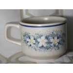 "Lenox temper-ware ""dewdrops"" cup(s) white and blue floral cup lot of 4"