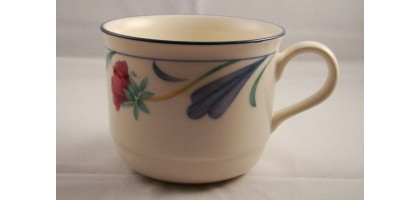 "Lenox chinastone ""poppies on blue"" cup(s) white and blue floral cup"