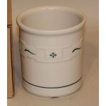 Longaberger USA Woven Traditions Pottery Heritage Green 1 Qt Utensil Crock