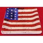 "Sakura Warren Kimble Colonial American Flag Square Plate 9"" X 9"""