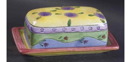 SANGO China Sweet Shoppe Covered Butter Dish with Lid 0000