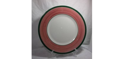 "Presentense Hand Painted Italy 12.5"" Serving Plate Green and Pink"