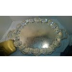 Silver Footed Serving Tray 23 x 16  Shell and Scalloped edge Baroque style