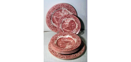 Staffordshire Engravings Red 17th century