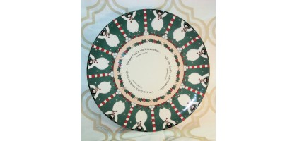 Dayspring Cards Dinner Plate Christian Verses (snowmen)