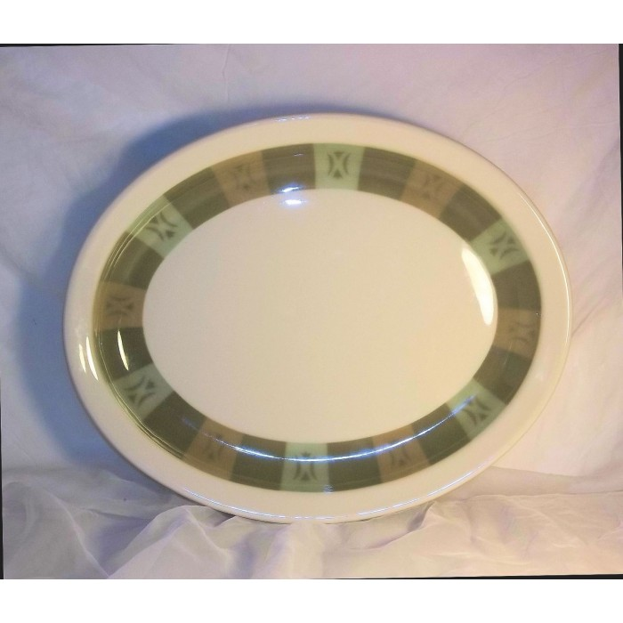 sc 1 st  The Little Used Store & Syracuse 1929 Italian Restaurant Oval Dinner Plates 11 1/2