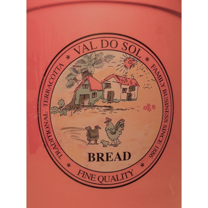 Terracotta Huge Large Kitchen Canister Val Do Sol Fine Quality Portuga Bread Box