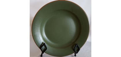 "Casa Verde Terra Cotta Dinner Platet 9.5"" Tableware Pottery Green"