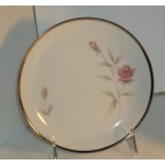 Eternal Rose By Vern Forbes Silver Trim Bread Plate