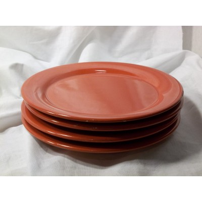 Waechtersbach Red Salad Plates Set of 4 Pair Candy Apple Red