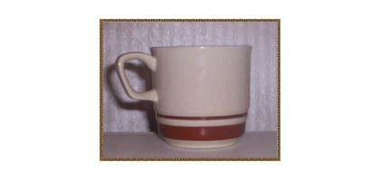 Contemporary Chateau Hand Painted cup with Brown ring