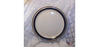 Contemporary Chateau Hand Painted Dinner Plate  Blue ring