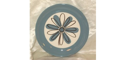 BW Next Atomic Era Flower Design Dinner Plate