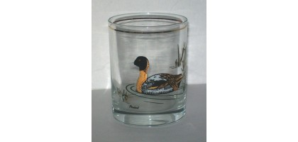 Vintage Culver Duck Motif Old Fashion Glass Pintail 14oz.