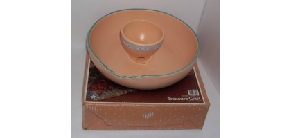 Treasurecraft chip and dip tray New with box 1980 Southwest pattern