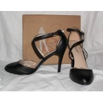Womens Black Shoes Alaih 2 Heels Straps Size 10 New in Box