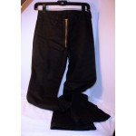 Rag City Blues Black Jeans with Exposed Zipper Front Gold Color Black  Waist 28
