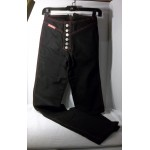 Rag City Blues Button Up Boot Cut Jeans with Red Thread Dark Black Waist 26