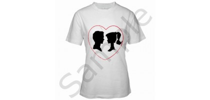 Barbie and Ken Silhouettes With Heat Women's T-Shirt