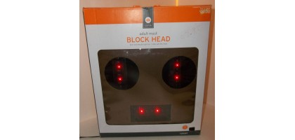 Block Head Adult Mask Eyes and Mouth Light Up