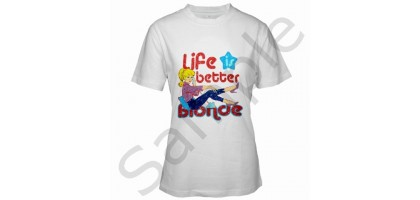 Barbie, Life Is Better Blonde Women's T-Shirt