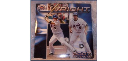 David Wright 2007 Calendar New York Mets MLBPA Collectible