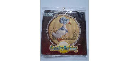 Titan Vintage 1984  Needlecraft NIP Kit Country Morning Mother Goose No. 1612