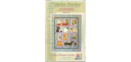Java House Quilts Muchas Poochas - Accoutrements Block 8 Pattern