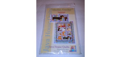 Java House Quilts Muchas Poochas -Dachshunds Block 9 Pattern