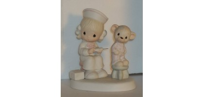 Precious moments figure Love beareth all things- so cute Enesco