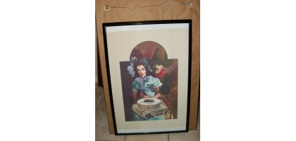 Eastman Kodak Co Movie Rare Water Color Spanish Guy and Lady 1st Print of 77