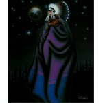 Robert Redbird Native American Art Print Looking at the Sky