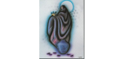 Robert Redbird Native American Art Print Lonely Woman