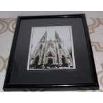 St. Patricks's Cathedral Black & White 8 1/2 x 5 1/2 Photograph Signed George K