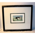 Artist D LUNDQUIST  Print  COW BY THE FENCE Number 7/200