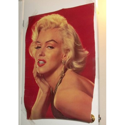 "Marilyn Poster 26 x 38 ""RARE"" Large RED POSTER Roger Richman Agency Era"