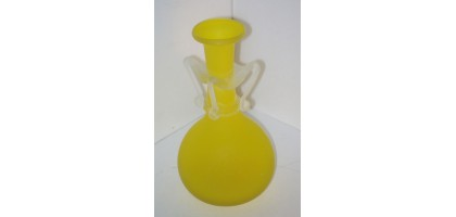 Vase yellow art Glass frosted art deco or art nouveau