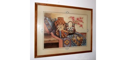 Wolf M. Otto Large Framed American Indian Pottery Print