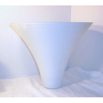 Large Cone Shape White Glass Lamp Shade 1900's Hanging 11 x 12 RARe Unique