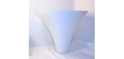 Large Cone Shape White Glass Lamp Shade 1900's Hanging 11 x 12