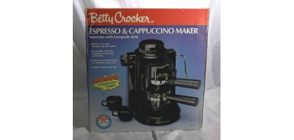 Betty Crocker Expresso maker capuccino latte coffee machine steam frother  electric unit caffe 1 cup  new Betty Crockers