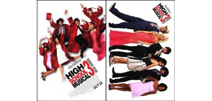 High School Musical 3 Movie Poster Double Sided Original 19 x27